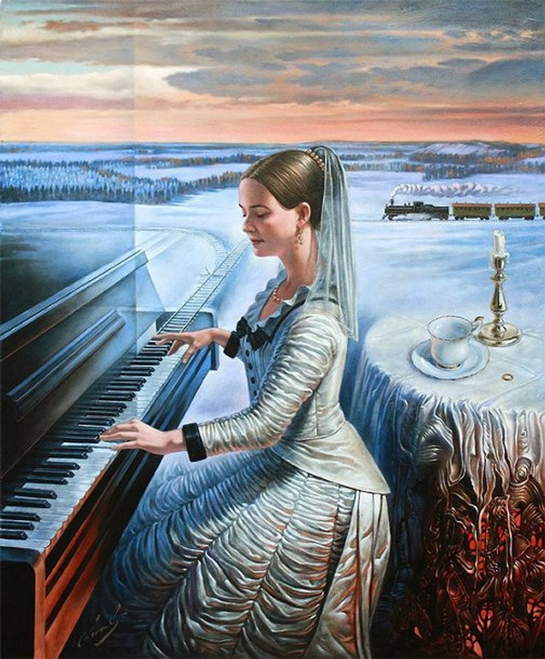 10-the-cold-expanse-sonata-anna-karenina-Michael-Cheval-Surreal-Paintings-that-Draw-inspiration-from-The-East-and-West-www-designstack-co