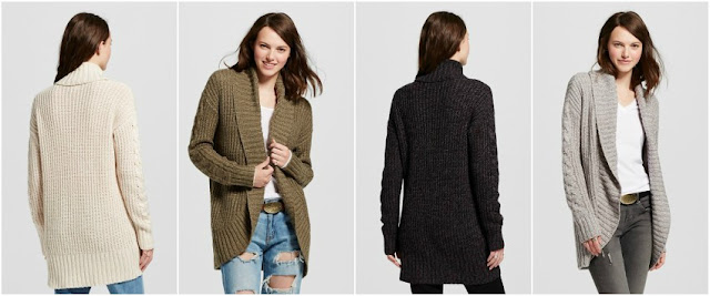Mossimo Long Sleeve Shaker Cocoon Cardigan for only $18 (reg $30)