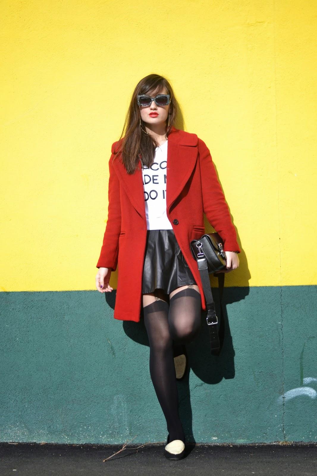 Zara红色外套