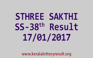 STHREE SAKTHI SS 38 Lottery Results 17-01-2017