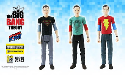 "San Diego Comic-Con 2016 Exclusive The Big Bang Theory ""DC Comics T-Shirts"" Sheldon 3 ¾ Action Figures by Bif Bang Pow! x Entertainment Earth – Superman, Shazam & The Riddler"