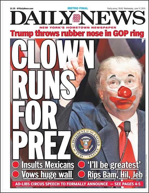 Daily News, Trump Clown
