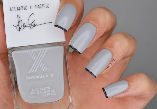 NAILS | Formula X #ColorCurators Atlantic Pacific Edition with Tiny French Tips