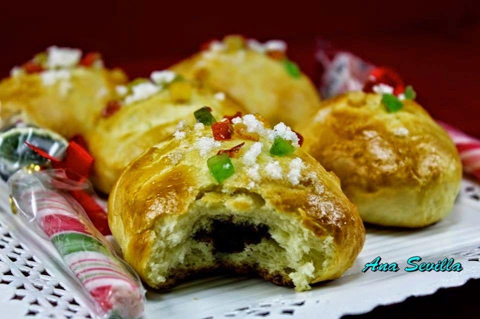 Suizos rellenos de chocolate Ana Sevilla cocina tradicional