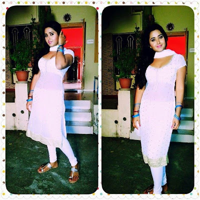 Bhojpuri Actress Kajal Raghwani at Home Photos 2