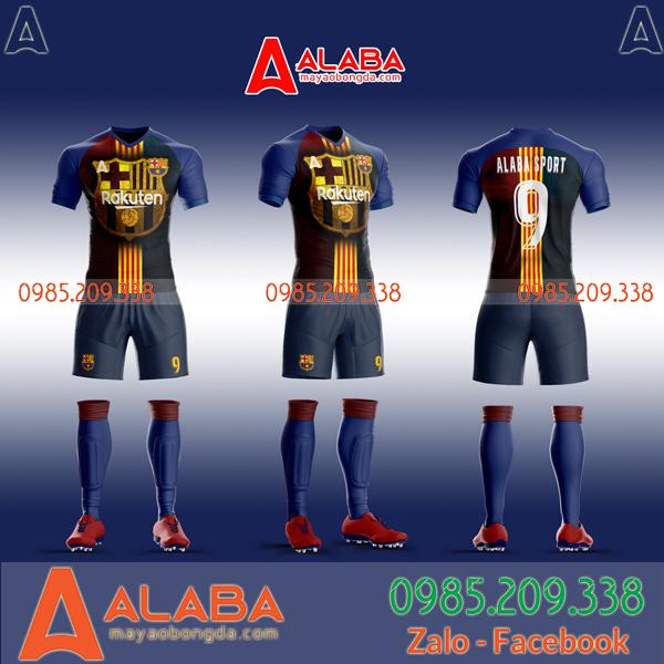 Áo Barca tự thiết kế 2019 mã ALB BA04