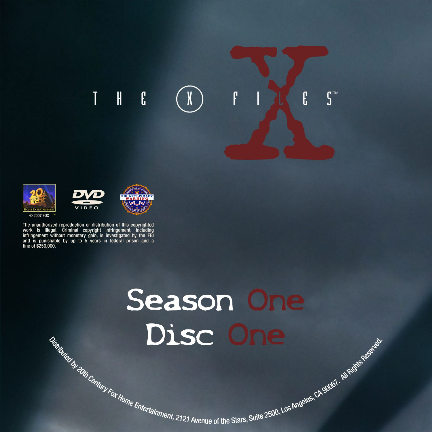 The X Files Season 1 DVD Label Disc 1-8