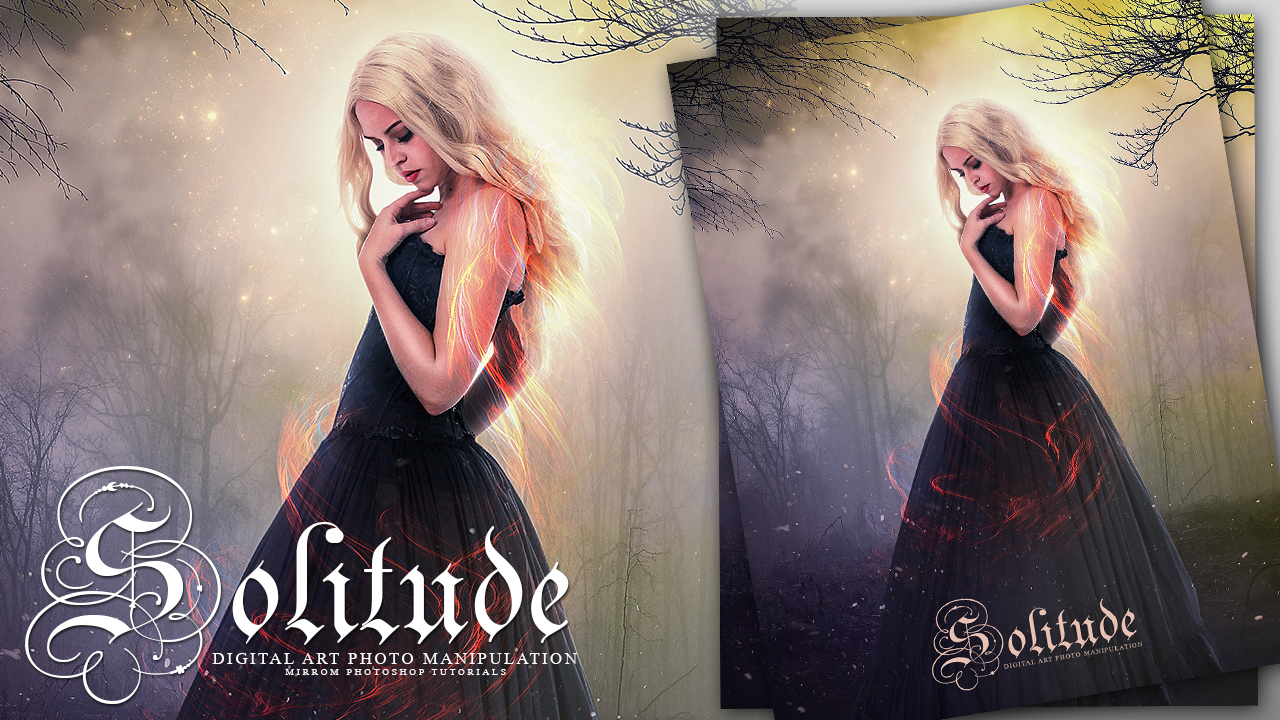 Make a Solitude Fantasy Photo Manipulation Photoshop Tutorial