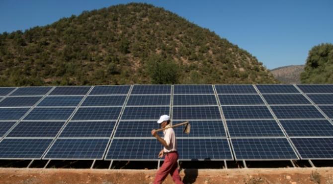 Solar panels in Tafoughalt, Morocco. Fadel Senna