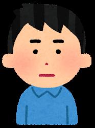 怒る男性のイラスト(段階1)