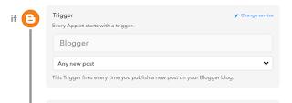 IFTTT Maker 設定(BloggerとTwitterの連携)