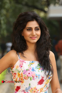Actress Shamili Stills in Floral Short Dress at Sree Ramaraksha Song Launch 0084