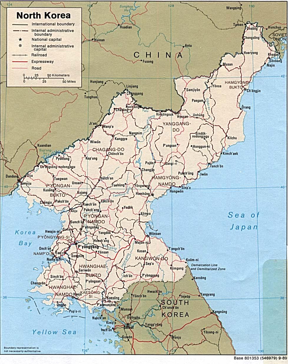 nordkorea landkarte Landkarte von Nordkorea (1989, Englisch) | Weltatlas nordkorea landkarte
