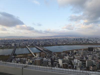 梅田スカイビル空中庭園展望台から望む360度のパノラマビュー 北側