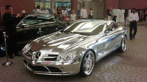 Pure White Gold Mercedes Benz, Owned by Prince of Abu Dhabi
