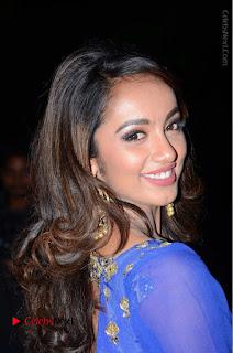 Telugu Actress Tejaswi Madivada Pos in Blue Long Dress at Nanna Nenu Na Boyfriends Audio Launch  0014.JPG