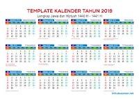 Download Kalender 2019 PDF, JPG, CDR Hijriah dan Jawa Lengkap