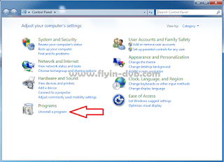 Cara menghapus update windows internet explorer langkah 1