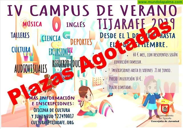 Agotadas las plazas para el IV Campus de Verano en Tijarafe
