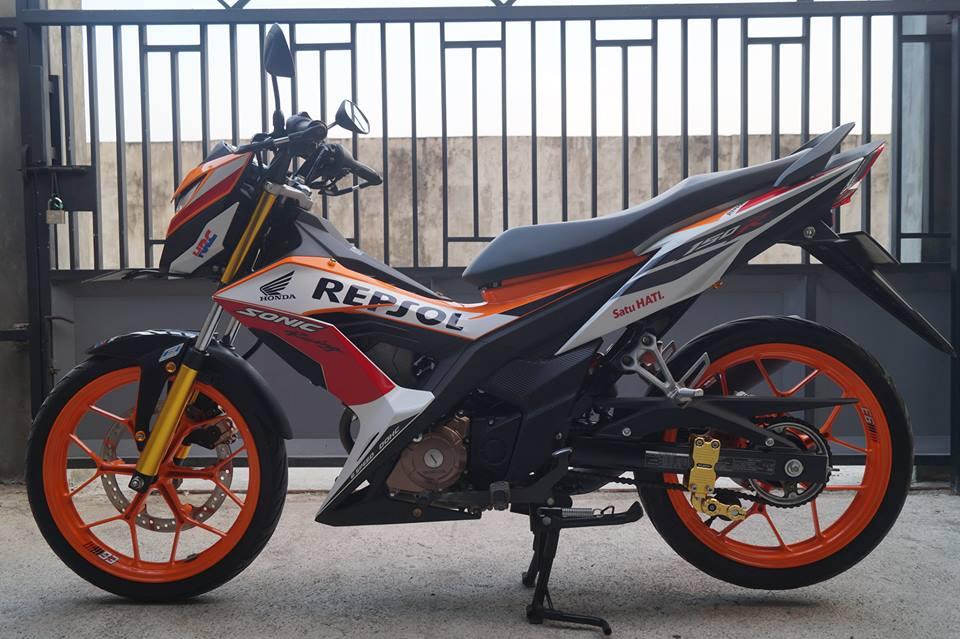 Modifikasi Honda Sonic 150R Keren