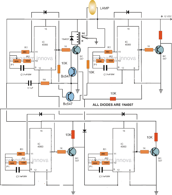 industrial application 4 stage programmable timer circuit