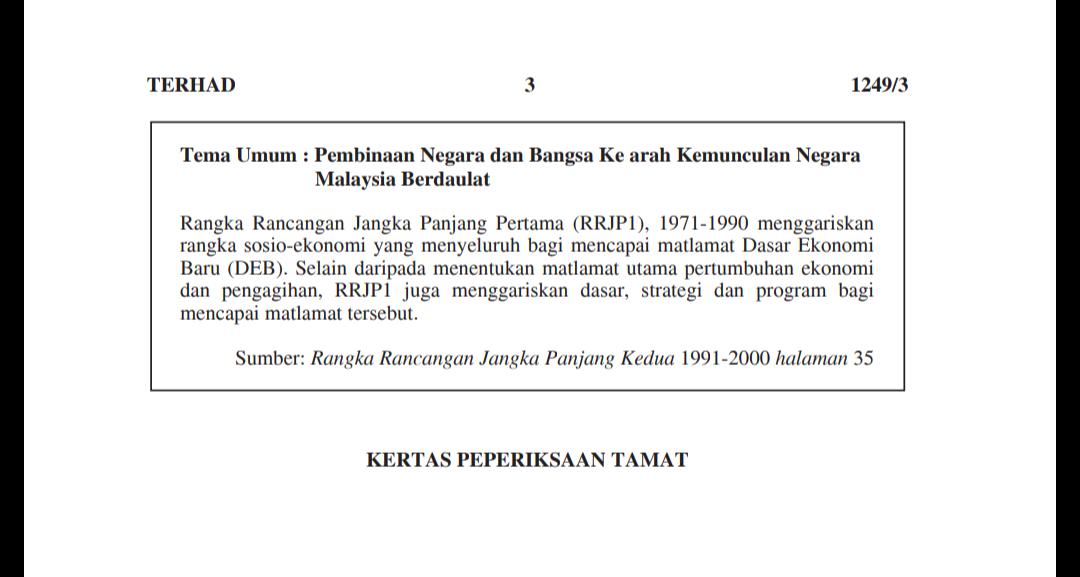 Tema Umum Sejarah Kertas 3 Peperiksaan SPM 2020 - MY PANDUAN