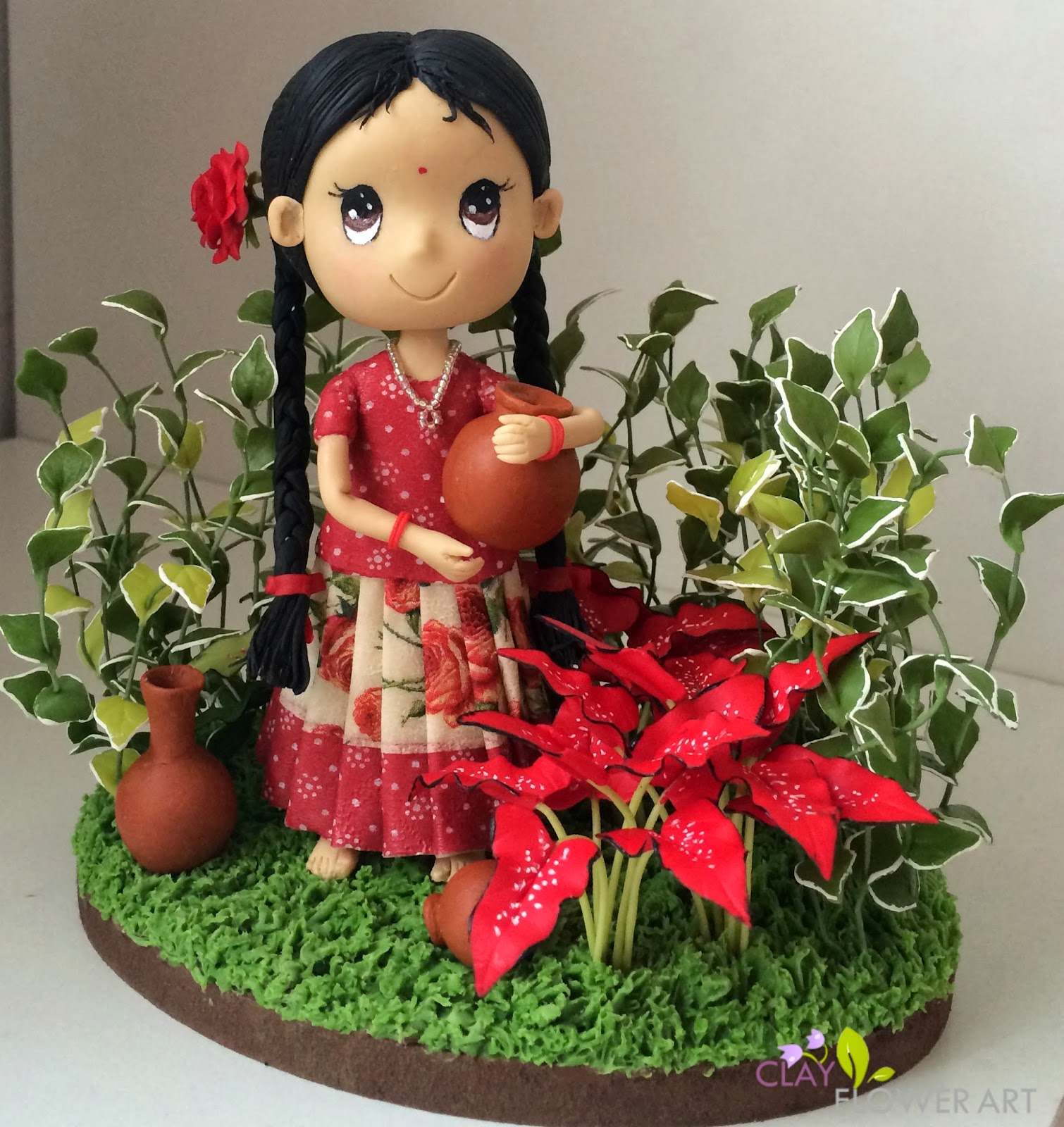 Clay Pot Dolls: Hand Crafted South Indian Girl