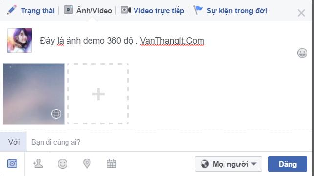 Làm ảnh 360 độ đăng lên Facebook bằng PC/Laptop