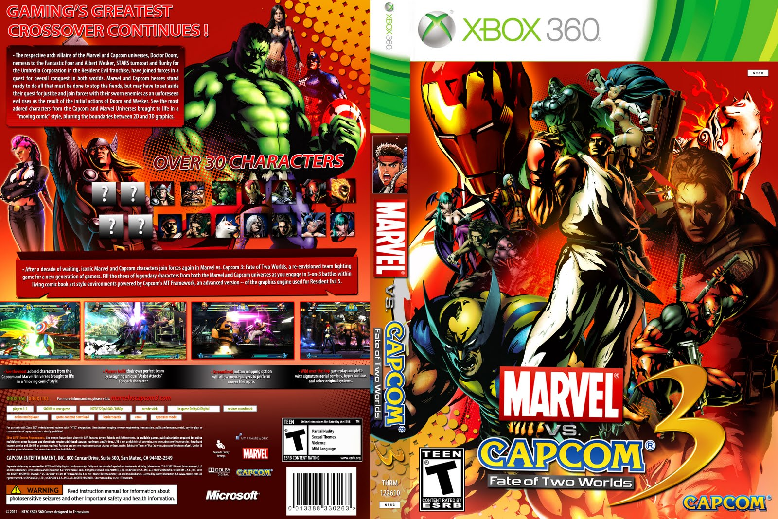 Games Covers: Marvel Vs Capcom 3 - Fate of Two Worlds