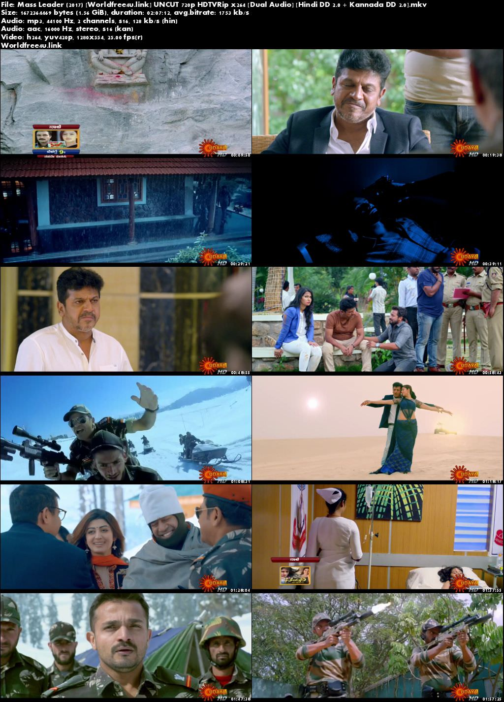 Screen Shoot of Poster of Mass Leader 2017 HDRip 720p Dual Audio Hindi Dubbed Movie Download