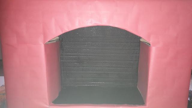 tutoriel tuto diy cheminée noel en carton facile rapide papier peinture