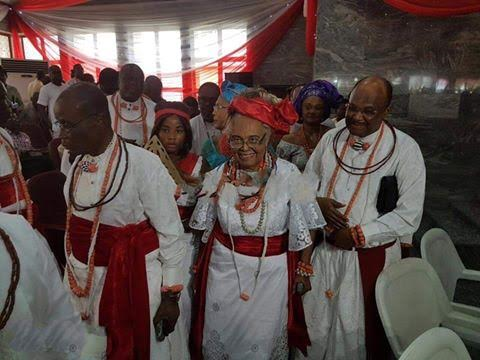 Nigeria's first female Vice Chancellor, Grace Alele-Williams, honored with a Chieftancy title by the Olu of Warri (Photos)