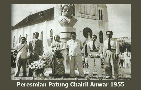 Peresmian Patung Chairil Anwar Di Kota Malang