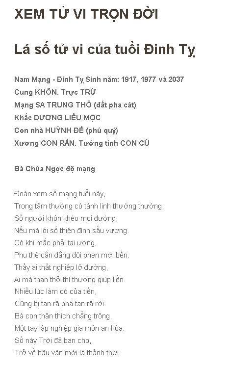 Tu Vi Tron Doi Dinh Ty 1977