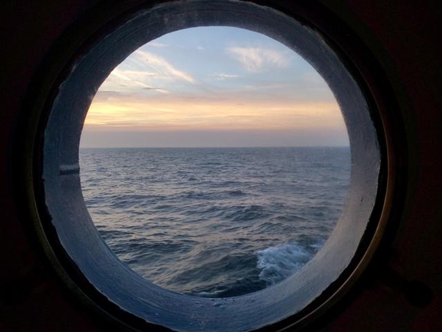 El mar desde nuestra cabina