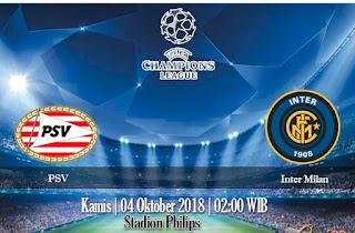 Prediksi PSV Eindhoven VS Inter Milan 4 Oktober 2018