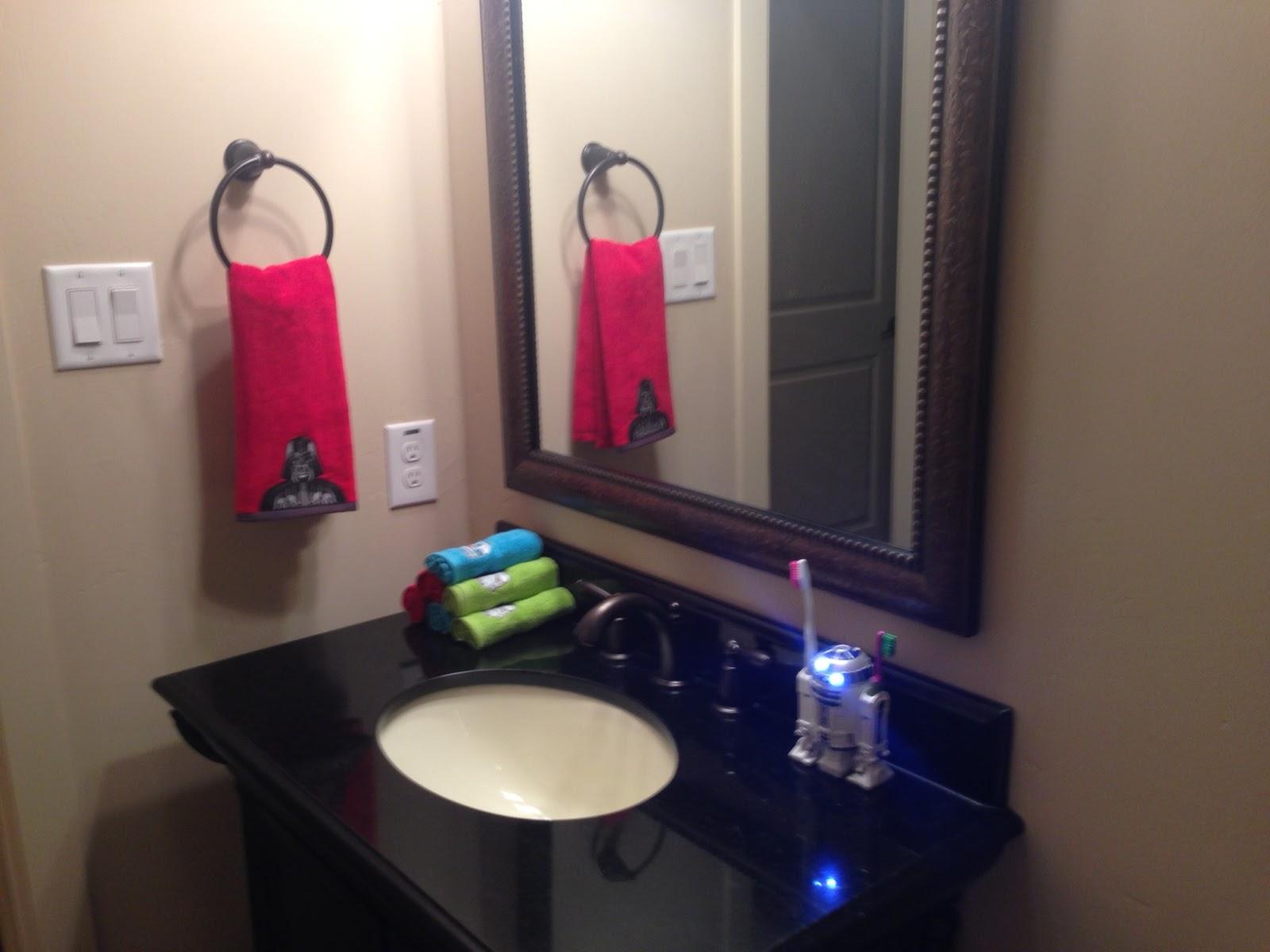 Star Wars Bathroom Makeover With A Diy Light Saber Towel