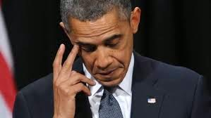 A picture of President Obama in thought