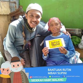 Mbah Supini : Bantuan Rutin