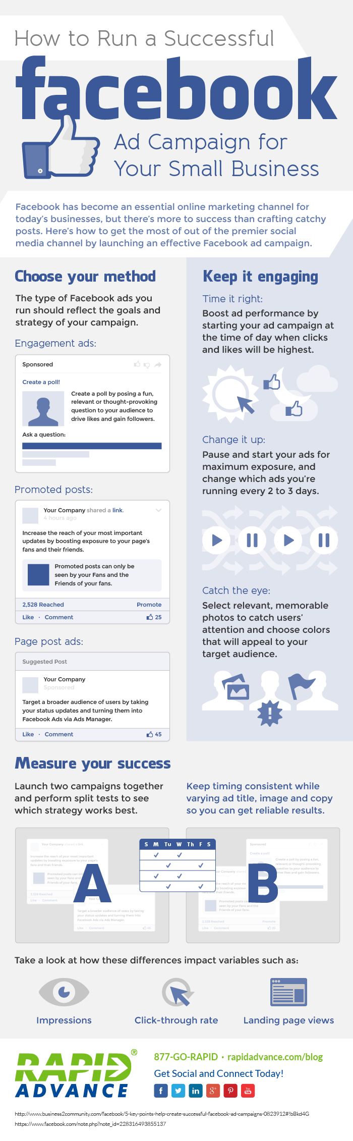 #Infographic: How to Run a Successful #Facebook Ad Campaign for Your Small Business - #socialmedia