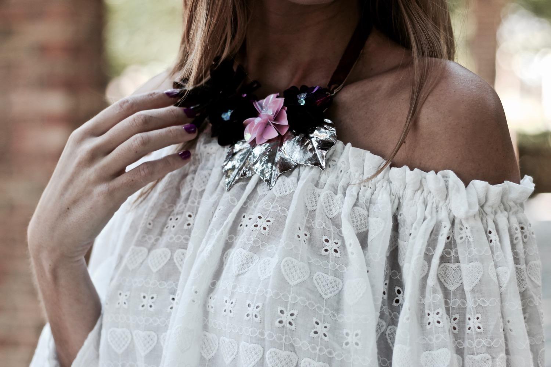 maxi collar flores