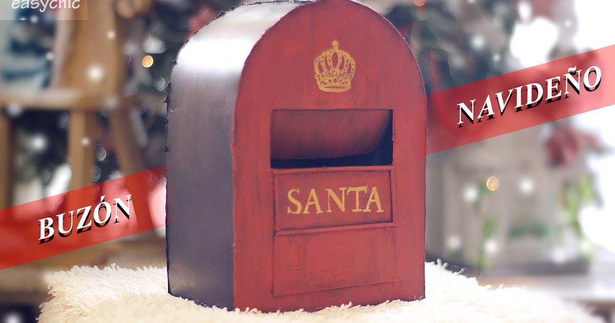 Easychic diy buz n retro vintage navide o para papa noel santa claus o los reyes magos - Buzon vintage ...
