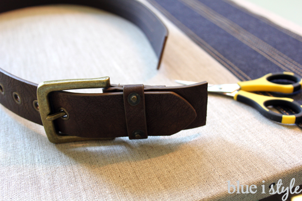 DIY organizer for boys using leather belt