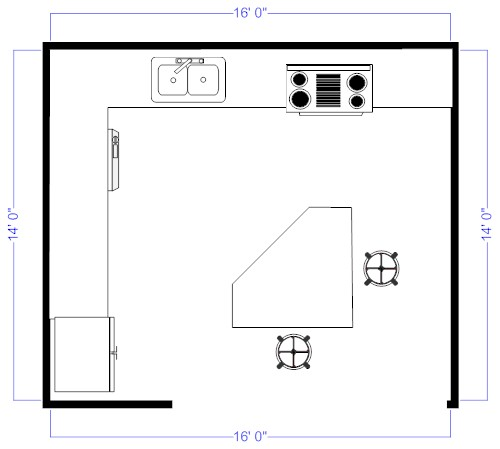 Island Kitchen Floor Plan kitchen floor plan layouts | porentreospingosdechuva
