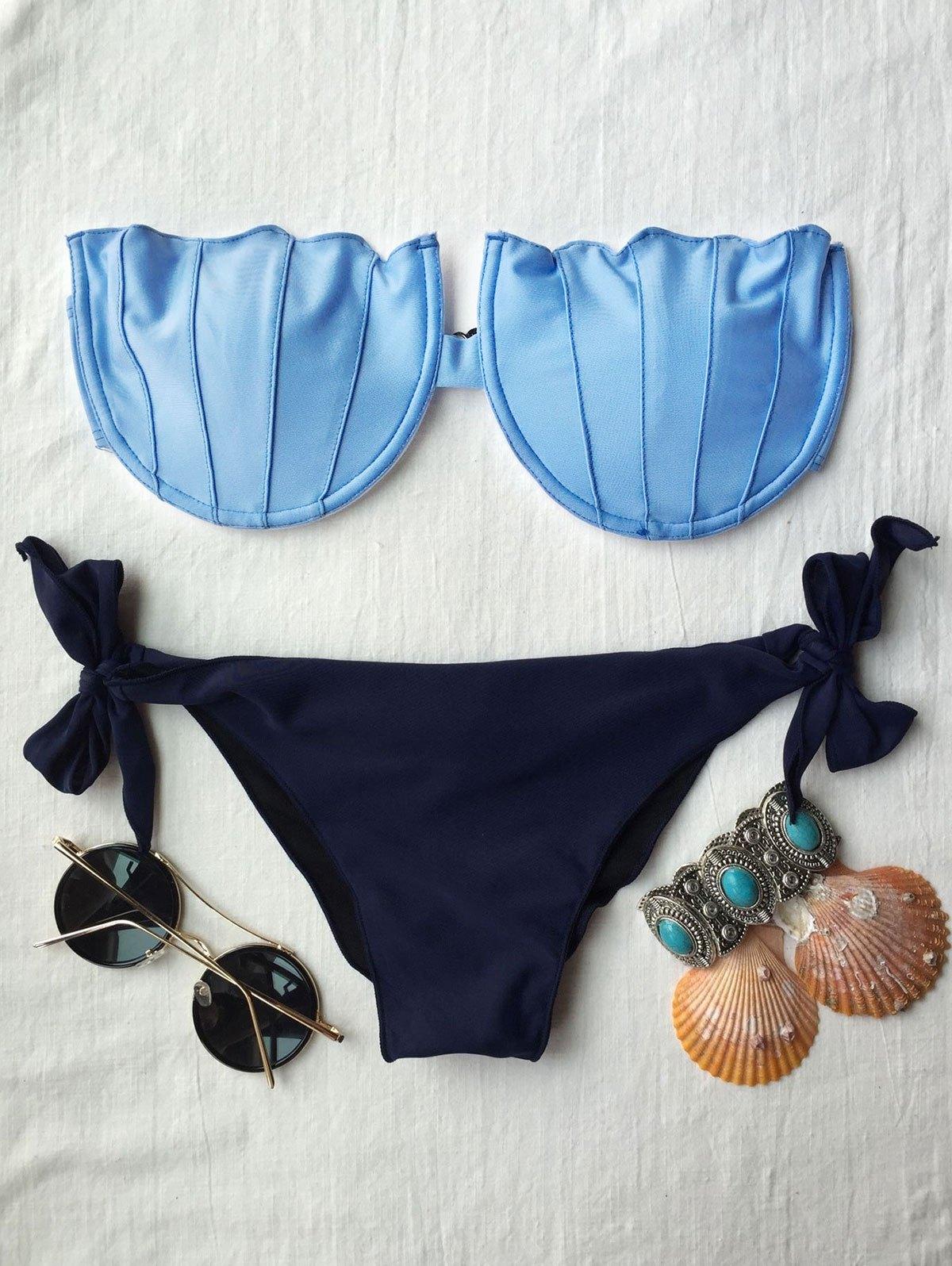 Padded Strapless Bikini Set