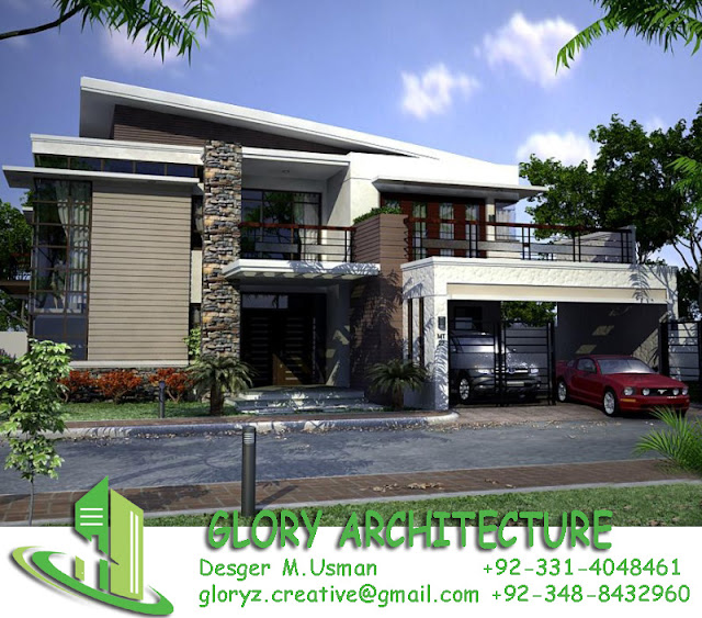 Glory Architecture 25x50 House Elevation Islamabad: 70x100 House Plan, 1.5 Kanal House Plan, 30 Marla House
