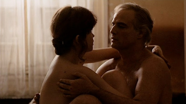 Maria Schneider, Marlon Brando, cuddling up, Last Tango in Paris