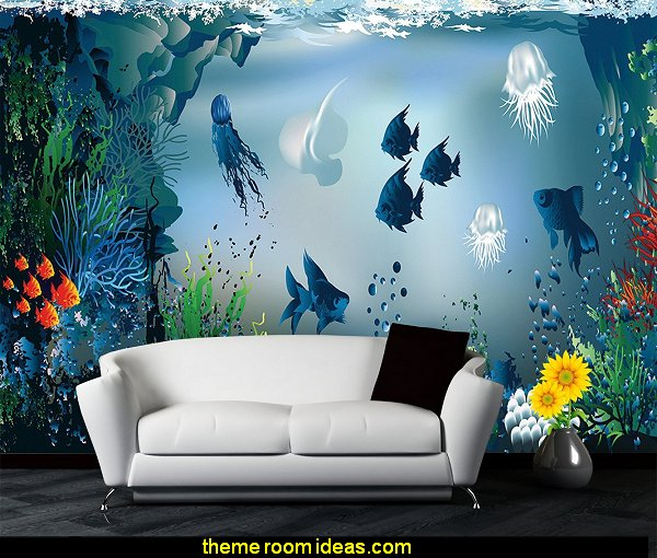 Animals Wallpaper Underwater Coral Fishes Art Wall Murals Home Art Stickers Decorations