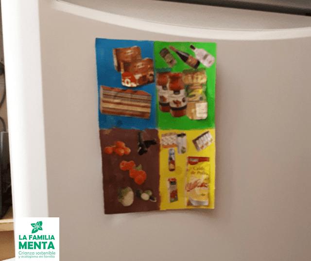 Actividad para peques: Iman de nevera para el reciclaje