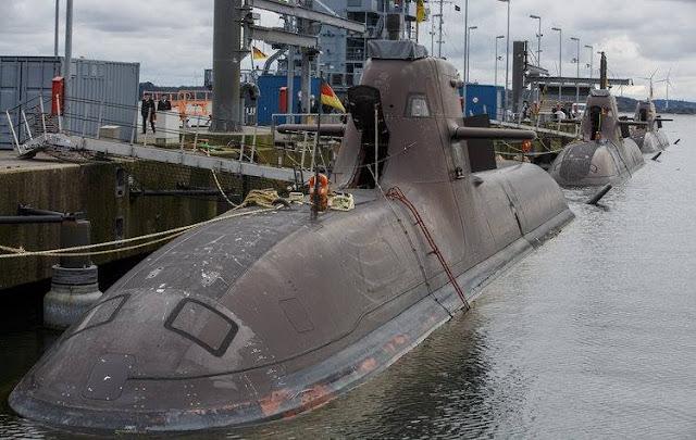 La flota de seis submarinos, de la Armada alemana, está completamente fuera de servicio